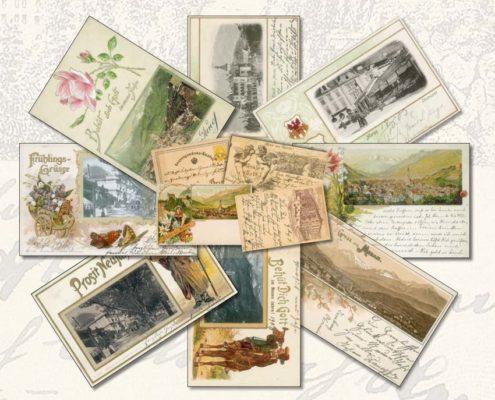 Historische Postkarten von Meran